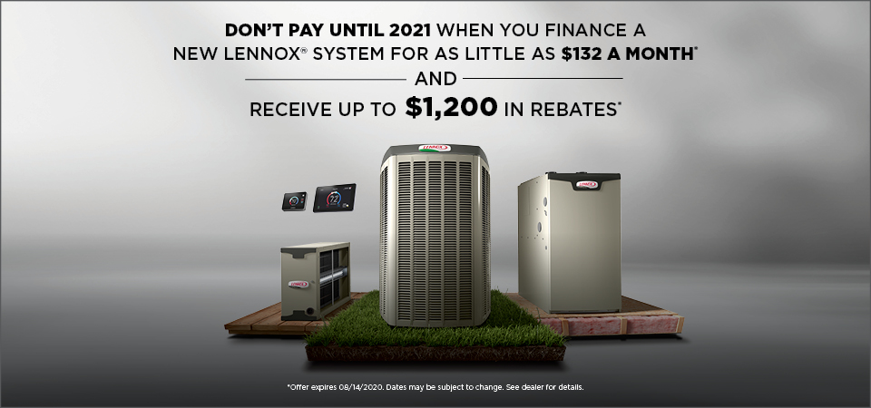 Lennox Ultimate Comfort Systems rebate and financing offer